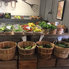 Fresh produce at Roe's Orchards